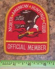 North American Hunting Club Official Member Sport Hunt Gun Rifle Shoulder Patch
