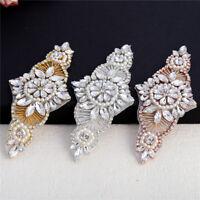 Beaded Crystal Rhinestone Applique for Wedding Dresses Bridal Belts Headpiece