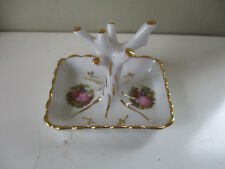 Beautiful Limoges Unusual porcelain Courting couples ring tree Goudeville