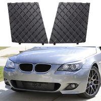Pair For BMW E60 E61 M Sport Front Bumper Cover Lower Mesh Grill Trim Black