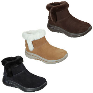 Skechers GoWalk Womens Boots Arch Fit - Cherish Suede Leather Winter Shoes