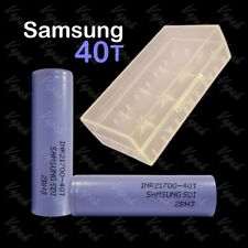 2 SAMSUNG 40T INR 21700 4000mAh/35A High Drain Rechargeable Battery / Clear Case