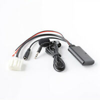 Car AUX Audio Cable Adapter Bluetooth Mic For Mazda 3 5 6 MX-5 RX-8 Stereo Radio