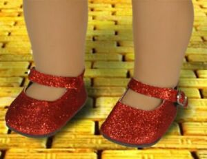 """New - Red Sparkle Shoes #925 - fits 18"""" American Girl Dolls / Play Dolls"""
