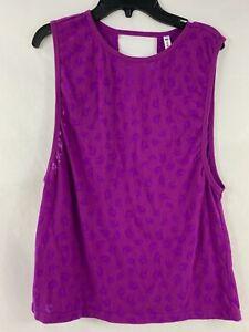 Fabletics Women's Tank Medium Purple Activewear 1270