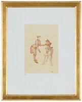 "Fine Toulouse Lautrec ""La Dresseuse' Hand Numbered 15/20 Lithograph Unframed COA"