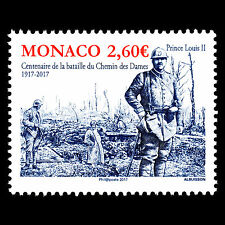 "Monaco 2017 - World War I ""100th Anniv. of the Second Battle of Aisne - MNH"