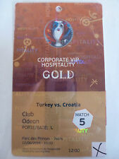 Used VIP pass badge ticket stub EURO 2016 Turkey vs Croatia 0:1 Paris Match No.5
