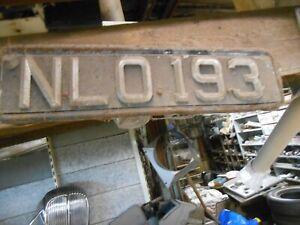 VINTAGE OLD CAR NUMBER PLATE NLO 193