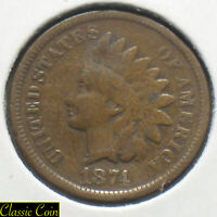 1874 Indian Head Cent 1c Tougher Date Penny Copper