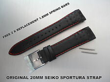 ORIGINALE Seiko Cinturino in Pelle SPORTURA 7t62-0kv0 snae65 snae67 snae69 snae75