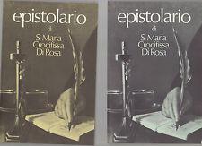 epistolario di santa maria crocifissa di rosa - 2 volumi  in custodia