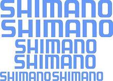 Shimano set 6 stickers 2 x 550x100,2x400x75,2x275x50 + 2free stickers