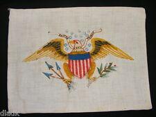 Vintage Needlework Piece Exitus Acta Probat Eagle 14 Stars