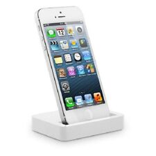 3.5mm Jack Audio Charge & Sync Dock Station for Apple iPhone 5 5G WHITE