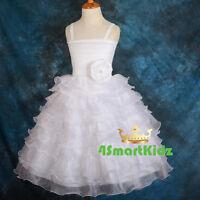 50% OFF SALE Flower Girl Diamante Tiered Formal Dress Wedding Party Sz 1-6 FG200