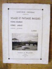 Geneviève Choubac Visages Paysages Basques 1937 Béarn Lande Pays Basque Envoi