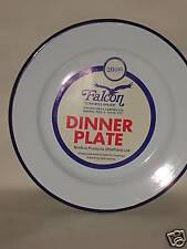 New Falcon White Enamel Round Pie Dinner Plate Baking Dish Tin 20cm