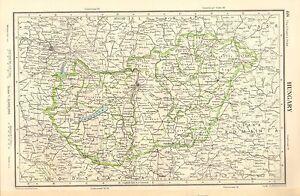 1952 MAP ~ HUNGARY ~ BUDAPEST DEBRECEN TOLNA