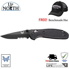 Benchmade 556SBK Mini Griptilian Knife Serrated BK Drop Point Blade w/FREE HAT