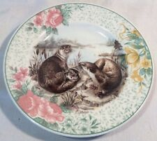 Lovely Decorative 16.6cm Plate With Otter Pattern And Floral Design By Churchill