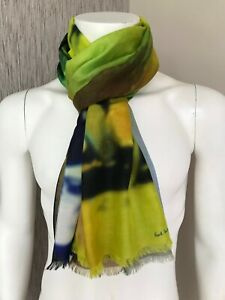 """PAUL SMITH """"PAULS PHOTO"""" PRINT SCARF MADE IN ITALY RETAIL €185 BNWT"""