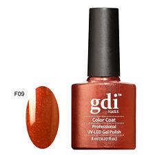 GDI Nails Pro Classic Top Base Matte Coats UV LED Soak off GEL Nail Polish F09 - Moroccan Spice