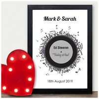 PERSONALISED Wedding First Dance Song Record Anniversary Gifts for Couples Wife