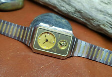 RARE VINTAGE DALIL SUPRA GOLD DIAL DATE WITH COMPASS MAN'S WATCH