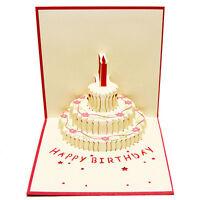 3D Pop Up Carte de voeux à la main Joyeux anniversaire Pâques Saint Valentin