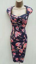 UK 10-8 Karen Millen Tulip Floral Print 2 Piece Corset Top & Skirt Outfit Dress