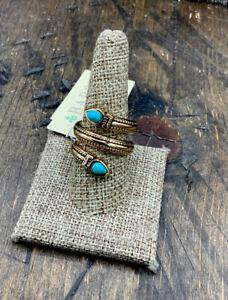 Barse Spiral Ring- Smoky Quartz & Bronze- 9.25- NWT