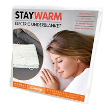 STAYWARM Luxury Electric Blanket with 2 Heat Settings +Fast Warm Up  DOUBLE SIZE
