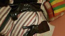 Sexy SEXYCA Black Patent Knee High Platform Boots  s5 GOTH * DOMINATRIX * FETISH