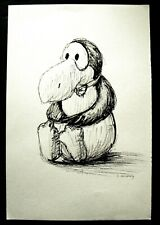 Original Ink Drawing by L. Jacoubowsky -- Opus -- Bloom County Comics Character