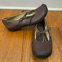 Keen CNX Mary Jane Shoes Brown Leather Contour Arch Comfort Walking Shoe Size 9
