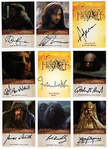 The Hobbit : Desolation of Smaug Card Master Set: Base Chase + 27 Autos + Sketch
