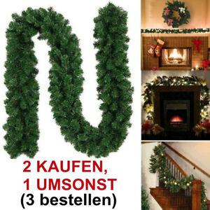 Weihnachtsgirlande Grün Tannen 270 cm dick Girlande Innen Außen Weihnachten Deko