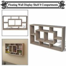 Floating Wall Storage Display Cabinet Unit Cubes Shelves 8 Compartment Cube Oak