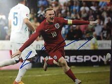 Wayne Rooney Signed England 8x10 Photo Manchester United