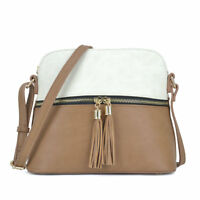Dasein Women Faux Leather Crossbody Messenger Bag Small Shoulder Purse