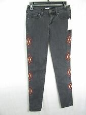 Women's Melrose and Market Navajo Embroidered Jeans Black Size 26