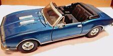 MOTORMAX 1967 CHEVY CAMARO SS CONVERTIBLE - METALLIC BLUE - 1:24 - NO BOX