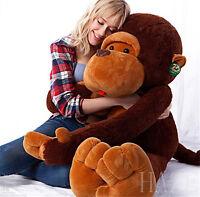 Giant Huge Large Big Stuffed Animal Plush Brown Monkey Bear Kid's Doll Toy gifts