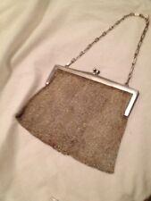 Vintage European Silver 800/1000 Mesh Evening Bag