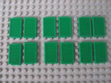 Lego Lot Of 12 Green Storm Shutters For Windows 1x2x3 City Town Custom House