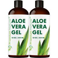 Aloe Vera Gel For Face & Body Moisturizer Skincare 24 oz