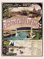 Travel AD Vintage FRAIPONT ARGENTEUIL NANTES train ART PRINT POSTER lf844