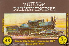 N°14 ATLANTIC CITY RAILWAY Locomotive TRAIN MATCHBOX LABEL 80s