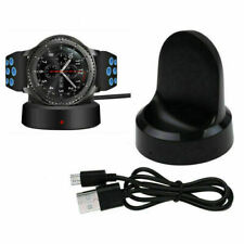 Wireless Charging Dock Charger Stand for Samsung Galaxy Gear S3 Frontier Black